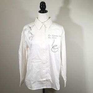 UCHUU Montreal Button Up Blouse + Graphic Design